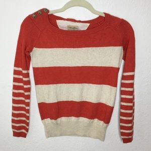 Wilfredfree Orange and Cream Nautical Stripe XS